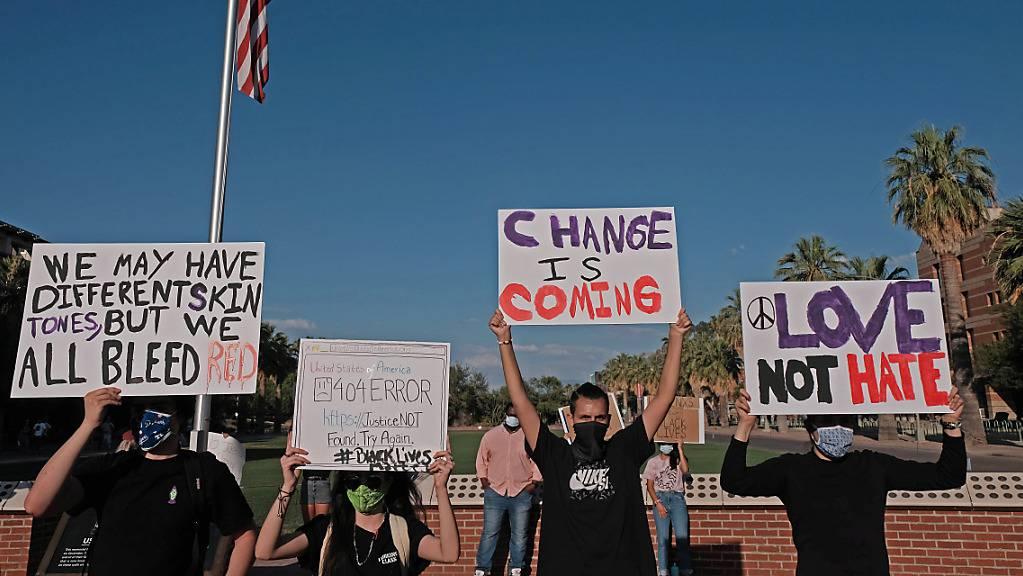 Nach dem Tod von George Floyd hatte es Anfang Juni auch in Tucson Demonstrationen gegeben.