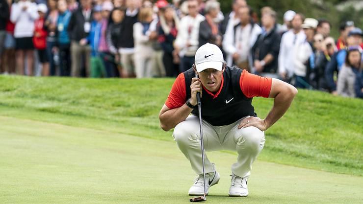 Rory McIlroy zeigte den Fans in Crans-Montana sein bestes Golf