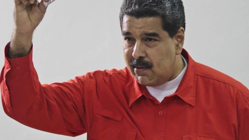 Der venezolanische Präsident Nicolás Maduro ortet ausländische Staaten hinter der Rebellion von Soldaten. (Archivbild)