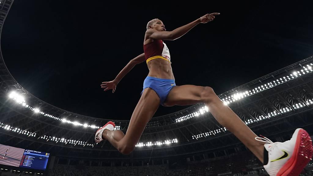 Weltrekord im Dreisprung der Frauen
