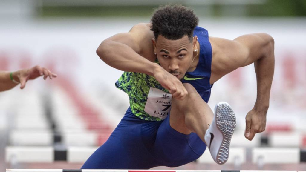 Jason Joseph überzeugt beim Rennen über 110 m Hürden in Luzern.
