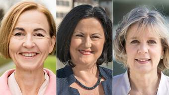 Marianne Meister (FDP), Susanne Schaffner (SP) und Brigit Wyss (Grüne) kämpfen um die zwei noch unbesetzten Regierungsratssitze.