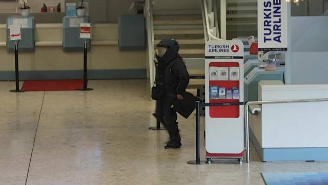 Bombenalarm am Flughafen Genf