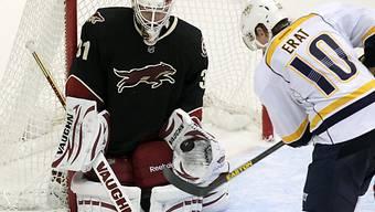 Phoenix' Goalie Chad Johnson feierte seinen ersten NHL-Shutout