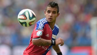 Derlis Gonzalez, hier noch im Trikot des FC Basel. Inzwischen läuft er für Dynamo Kiew auf.