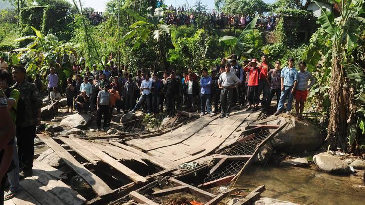 Das Brückenunglück nahe Darjeeling.