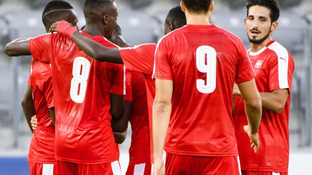 Beim 3:0 in Biel gegen Kasachstan völlig ungefährdet: die Schweizer U21