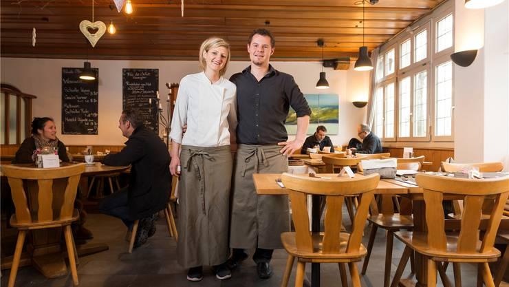 Nadja Schuler und Stephane Wirth haben den Landgasthof zum Hirschen in Villigen im Februar 2013 übernommen.