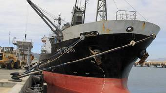 """Nordkoreanischer Frachter """"Jin Teng"""" im Hafen von Manila: Mit neuen Sanktionen wollen die USA die Schiffsindustrie des Landes schwächen. (Archivbild)"""