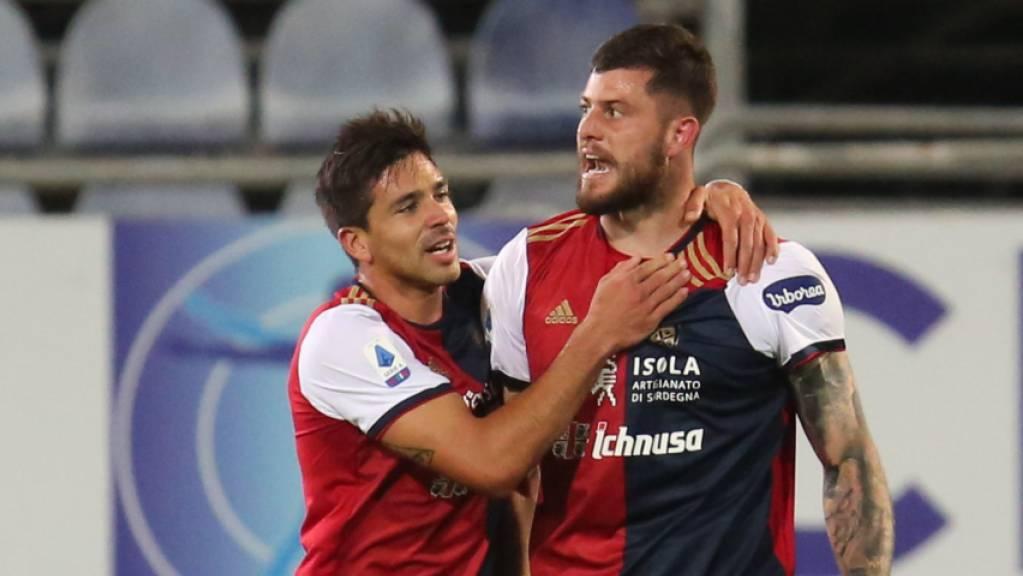 Alberto Cerri jubelt über sein spätes und womöglich klassenerhaltendes Tor im Abstiegsduell gegen Parma.