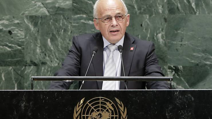 Bundespräsident Ueli Maurer sendete am Dienstag auf der Uno-Vollversammlung in New York die Kernbotschaft, dass die Schweiz zum Meistern der Zukunft auf die Digitalisierung setze.