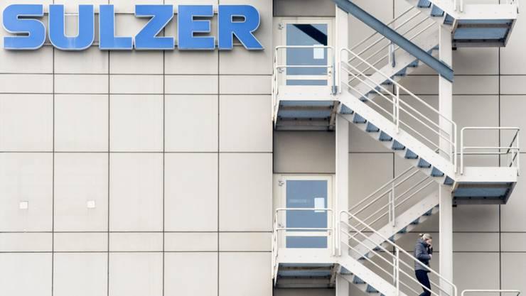 Weiterhin abwärts: Der Industriekonzern Sulzer verzeichnete auch im dritten Quartal rückläufige Bestellungen. (Archivbild)