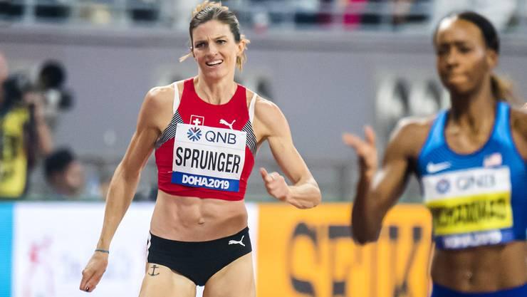 Dem Ziel entgegen: Léa Sprunger unterwegs im schnellsten Rennen ihrer bisherigen Karriere.