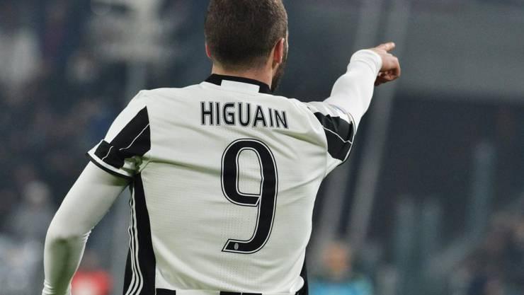 Gonzalo Higuain gab bei Juventus Turin die Richtung vor