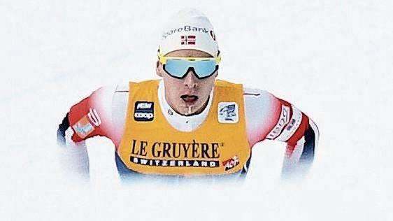 Der Norweger Simen Krueger auf dem Weg zum Tagessieg auf der Alpe Cermis zum Abschluss der Tour de Ski.