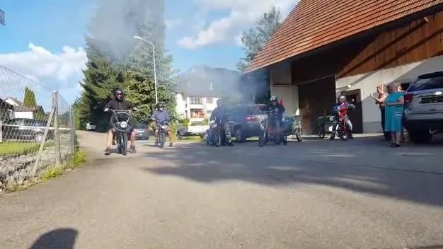 Alle Fünf beim Start in Hubersdorf