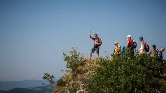 Bereits 2013 gings mit dem Leserwandern in die Region um Reigoldswil – sichtlich zur Freude der Mitwanderer.