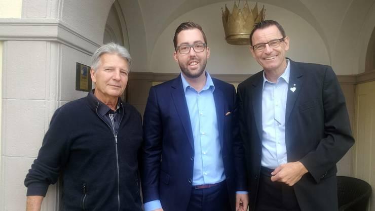 Da stimmte es noch (v. l.): Rolf Kasper, Fabian Muntwyler und Dominik Wyss Ende August.