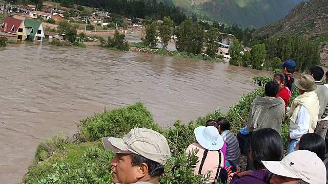 Überschwemmungen am Machu Picchu