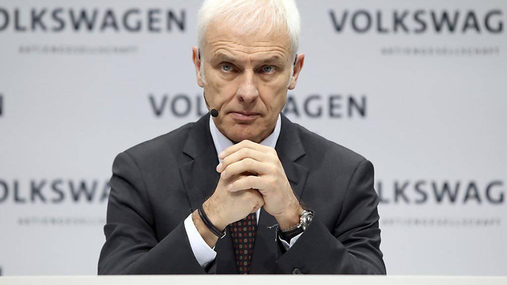 Die Konzernspitze bei Volkswagen steht auf dem Prüfstand - auch VW-Chef Matthias Müller. (Archiv)