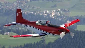 Eine PC-7 der Schweizer Armee (Archiv)