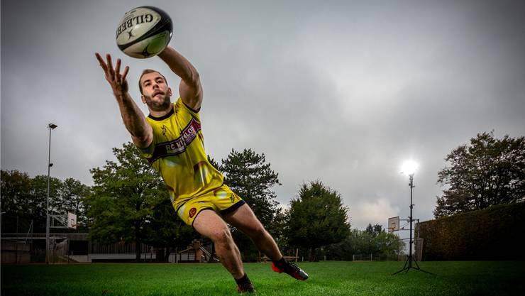 Das «Rugby-Ei» im Visier: Steven Blondin vom RC Würenlos.