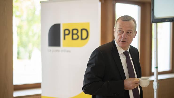 Parteipräsident und Nationalrat Martin Landolt an einer Delegiertenversammlung der BDP Schweiz.