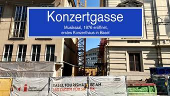 Die beim Umbau des Stadtcasinos neu entstandene Gasse heisst Konzertgasse.