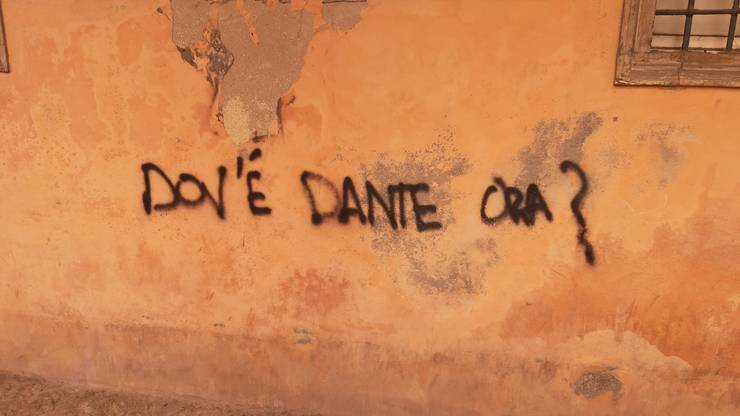 «Wo bist du jetzt, Dante?», fragt ein Graffitisprayer.