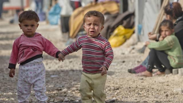 Flüchtlingskinder aus Syrien in einem Flüchtlingscamp in der Türkei