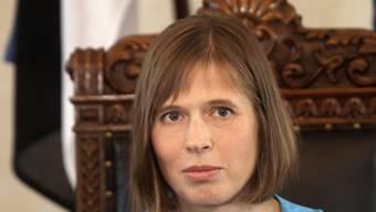 Kersti Kaljulaid ist die erste Präsidentin Estlands.
