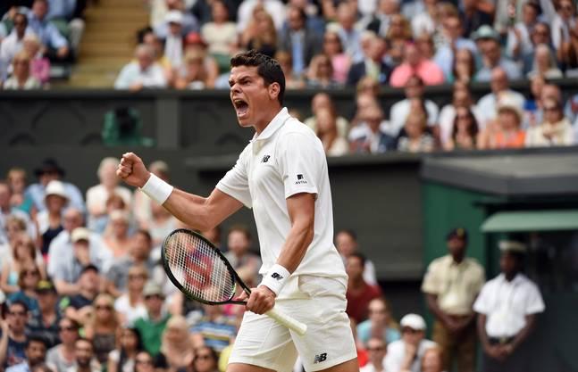 Milos Raonic schlägt Roger Federer in fünf Sätzen