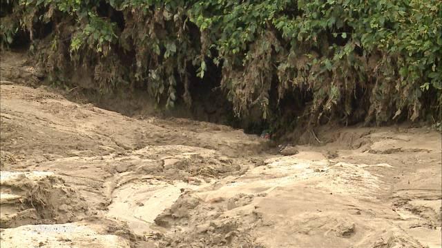 Schwere Überschwemmungen in Ehrendingen in Baden