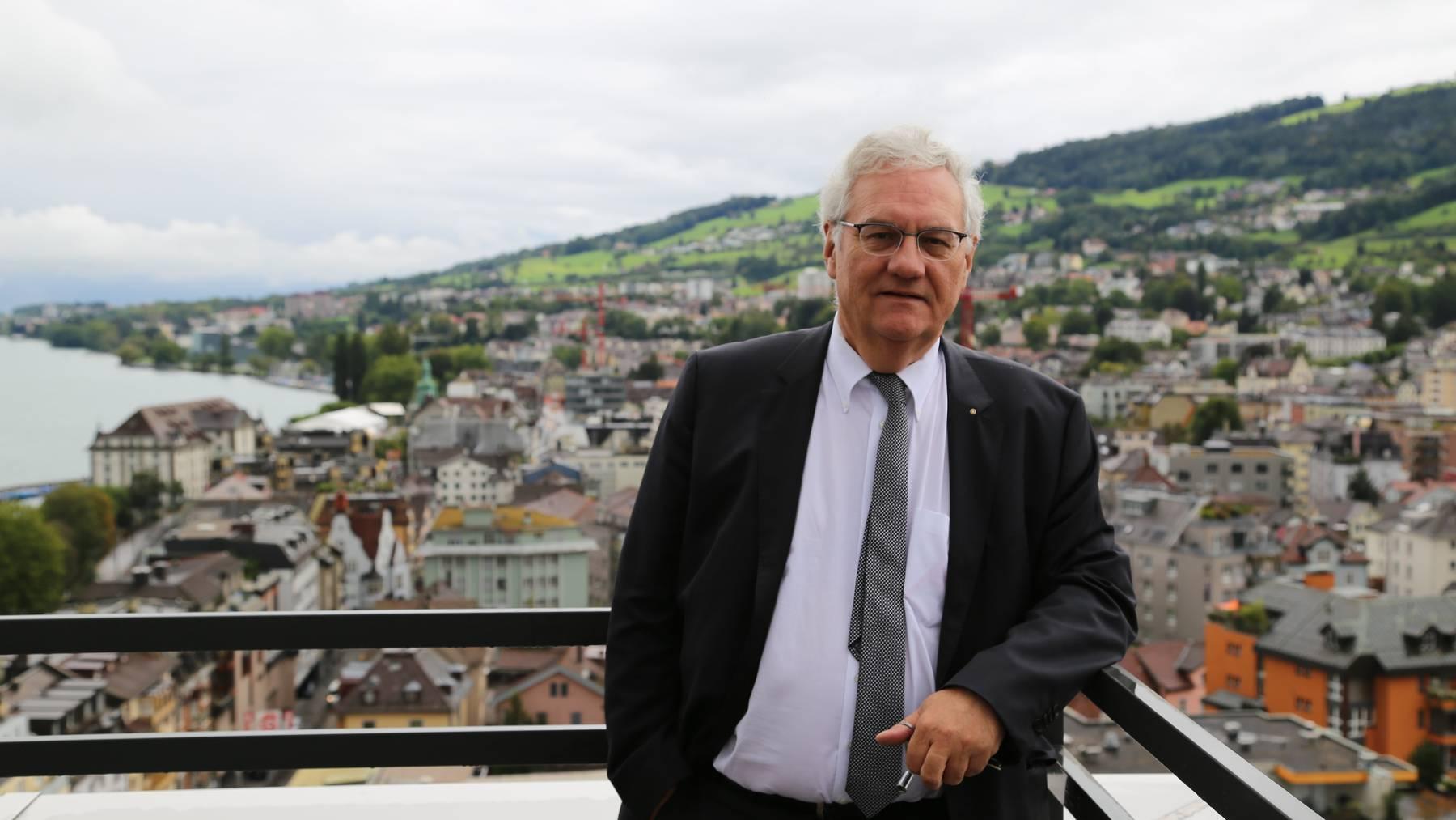 Manche nennen ihn den König von Rorschach: Thomas Müller (SVP) möchte wieder mehr Familien in «seine» Stadt locken.