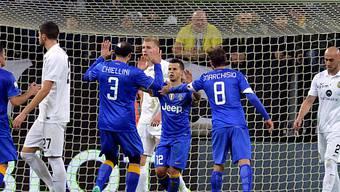 Juventus' Sebastian Giovinco (m.) traf doppelt