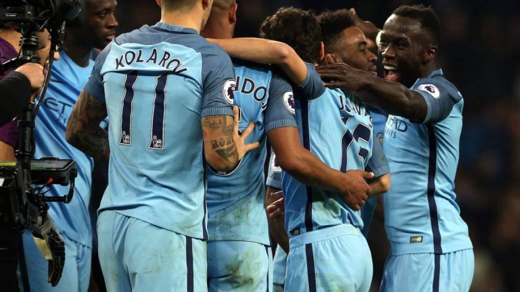 Manchester City machte in der zweiten Halbzeit den Unterschied