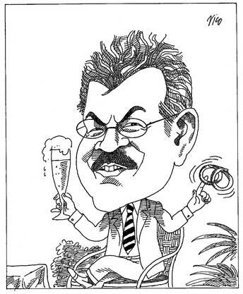 Roland Brogli, gezeichnet von Karikaturist Nico