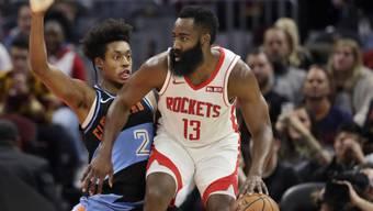 James Harden (rechts) erzielte 55 Punkte für die Houston Rockets in Cleveland