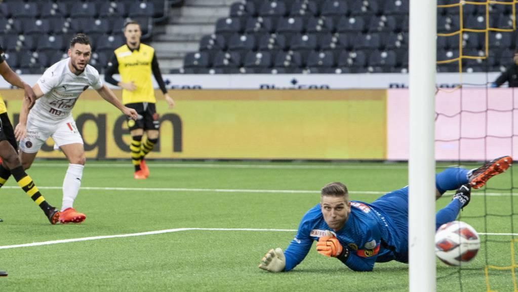 Banger Blick: David von Ballmoos muss mit den Young Boys im Wankdorf erstmals seit über zwei Jahren als Verlierer vom Platz.