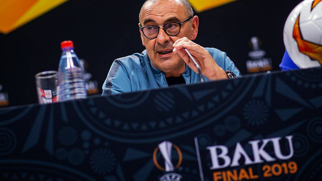 Bei der Pressekonferenz war er noch freundlich, im Abschlusstraining ärgerte er sich dann über seine Spieler: Chelsea-Coach Maurizio Sarri