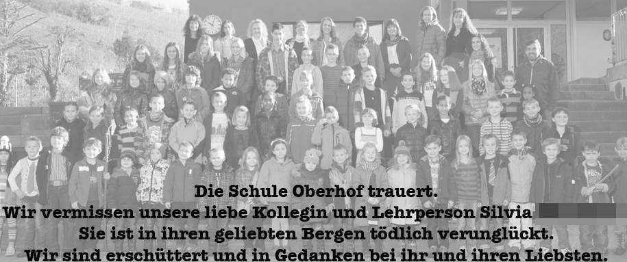 Trauerkarte der Schule Oberhof