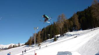 Luca Schuler am Swiss Freeski Open in Davos. (Bild zvg.)