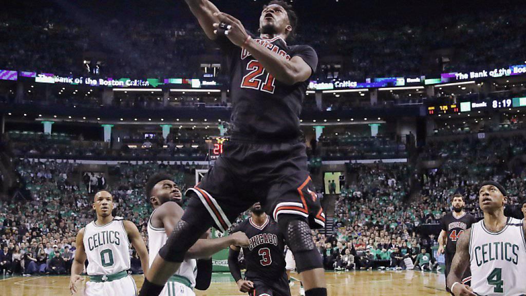 Chicagos Jimmy Butler überflügelt die favorisierten Boston Celtics auch im zweiten Spiel