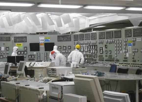 In einem Kontrollraum in Fukushima