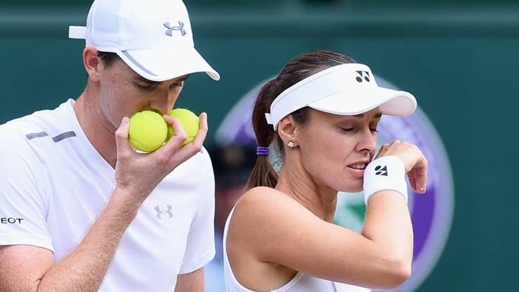 Sind auch beim US Open auf Erfolgskurs: die Wimbledon-Sieger im Mixed, Martina Hingis und Jamie Murray