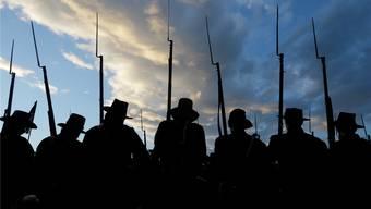 Für die Freiheit: Historische Nachstellung der Schlacht von Gettysburg. Matt Rourke/keystone