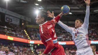Auch Topskorer Andy Schmid kann die Schweizer Heimniederlage nicht abwenden.