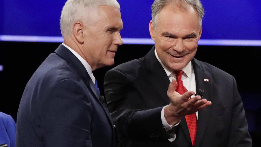 Für das Amt des US-Vizepräsidenten kandidieren zwei erfahrene, aber wenig bekannte Politiker: Mike Pence (links) für die Republikaner, Tim Kaine für die Demokraten.