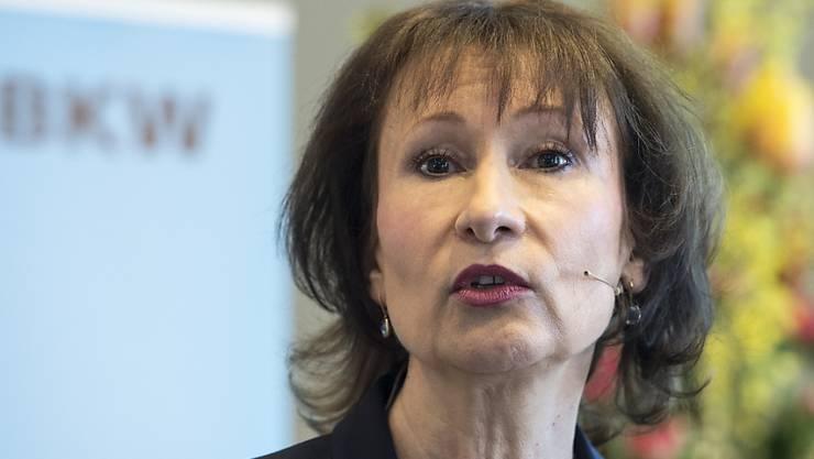 BKW-Chefin Suzanne Thoma wäre es am liebsten, wenn der Kanton seine Mehrheitsbeteiligung am Konzern abstossen würde. (Archiv)