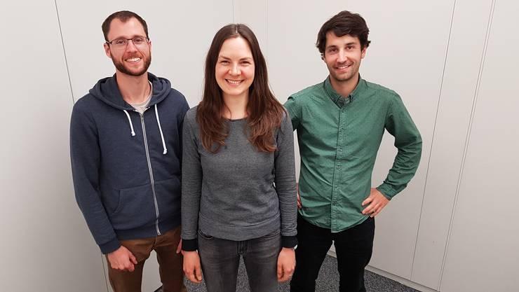 v.l.n.r.: Philippe Keiser, Nadine Freuler, Christian Rechsteiner